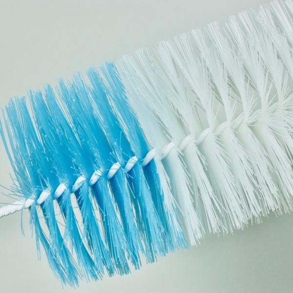 Close up of bottle brush bristles