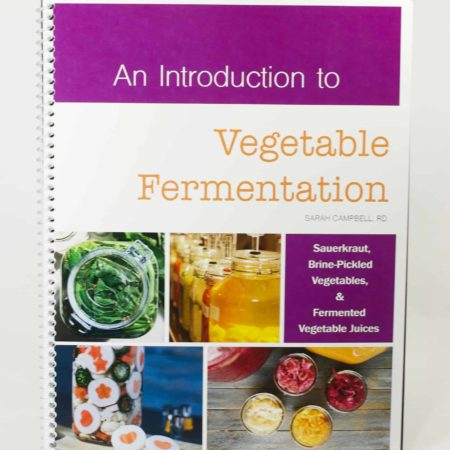 "Front cover of ""An introduction to Vegetable Fermentation"" manual"